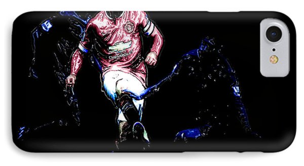 Wayne Rooney Working Magic IPhone 7 Case by Brian Reaves