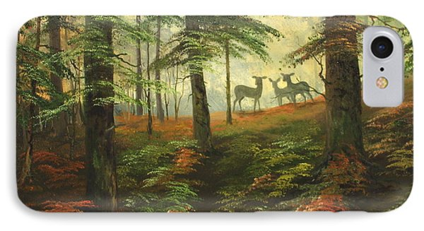 We Know That Stags Here Somewhere IPhone Case by Jean Walker