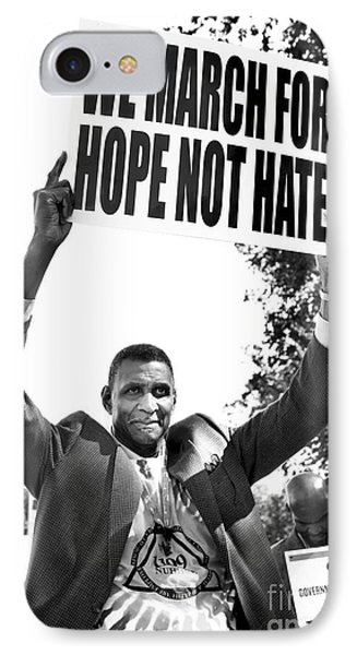 We March For Hope Not Hate IPhone Case by Diane Diederich