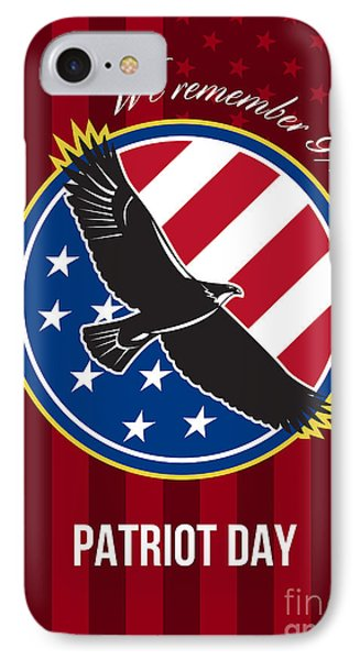 We Remember 911 Patriot Day Retro Poster Phone Case by Aloysius Patrimonio