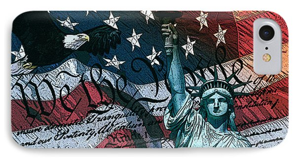 We The People IPhone Case by Dancin Artworks
