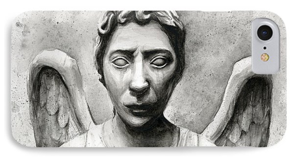 Weeping Angel Don't Blink Doctor Who Fan Art IPhone Case by Olga Shvartsur