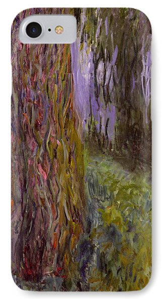 Weeping Willow And The Waterlily Pond Phone Case by Claude Monet
