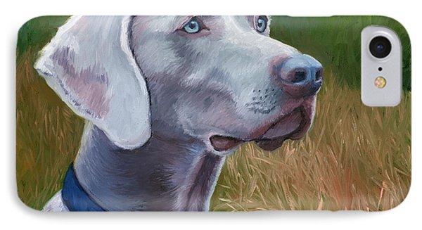 Weimaraner Dog IPhone Case by Alice Leggett