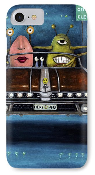 Welcome To Roswell Phone Case by Leah Saulnier The Painting Maniac
