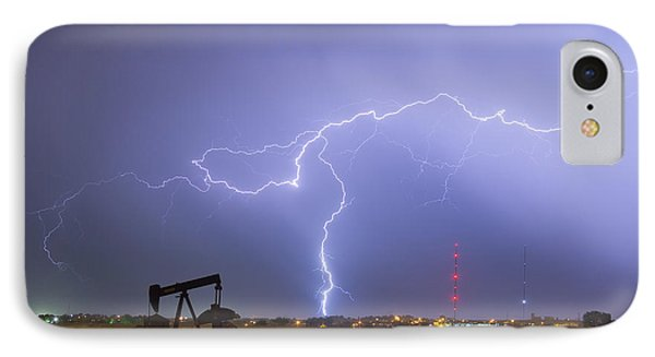 Weld County Dacona Oil Fields Lightning Thunderstorm IPhone Case by James BO  Insogna