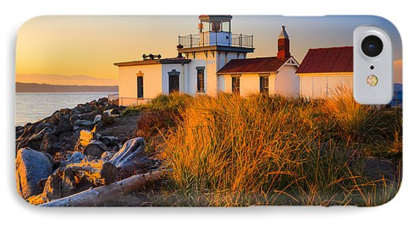 West Point Lighthouse IPhone Case by Inge Johnsson