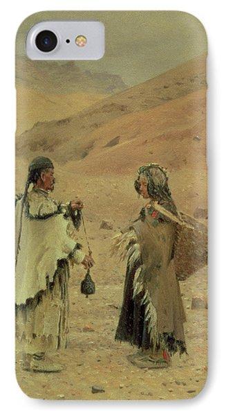 West Tibetans, 1875 Oil On Canvas IPhone Case by Piotr Petrovitch Weretshchagin