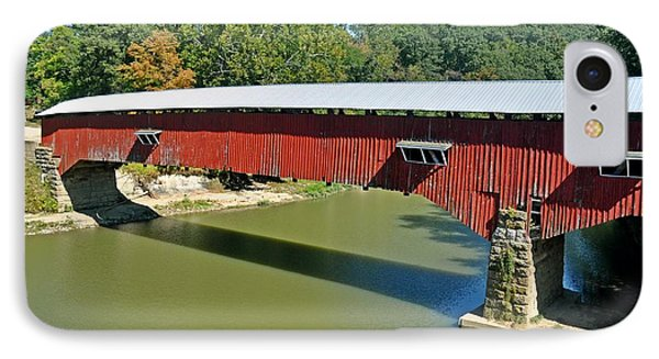 West Union Covered Bridge 2 Phone Case by Marty Koch