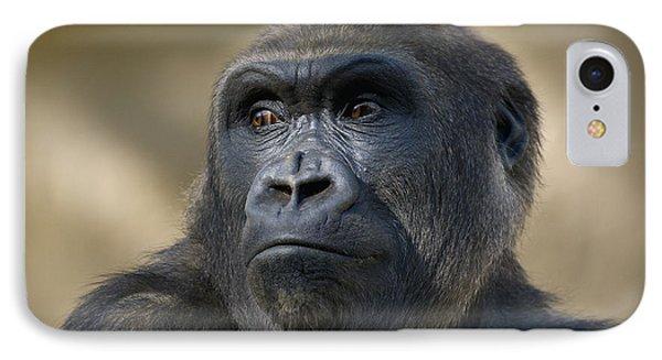 Western Lowland Gorilla Portrait IPhone 7 Case by San Diego Zoo