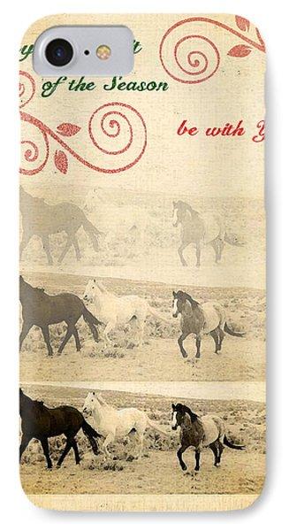Western Themed Christmas Card Wyoming Spirit IPhone Case by Amanda Smith