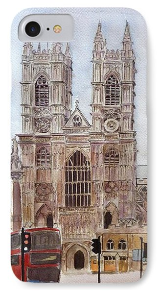 Westminster Abbey IPhone Case by Henrieta Maneva