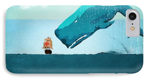 Whale IPhone 7 Case by Mark Ashkenazi