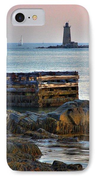 Whaleback Lighthouse Phone Case by Brett Pelletier