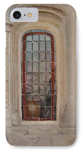 What Is Behind The Window Pane Phone Case by Mary Ellen Mueller Legault