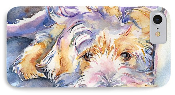 Wheaten Terrier Painting IPhone Case by Maria's Watercolor