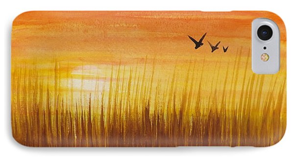 Wheatfield At Sunset Phone Case by Darren Robinson