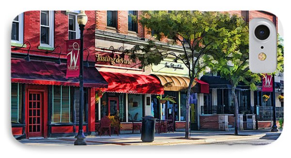 Wheaton Front Street Store Fronts IPhone Case by Christopher Arndt