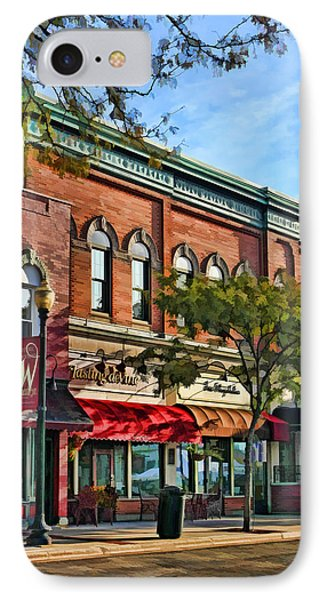 Wheaton Front Street Stores IPhone Case by Christopher Arndt
