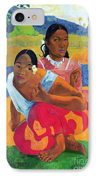 When Are You Getting Married Phone Case by Paul Gauguin