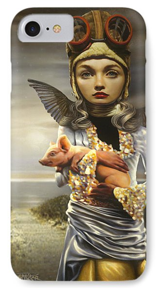 When Pigs Fly IPhone Case by Vic Lee