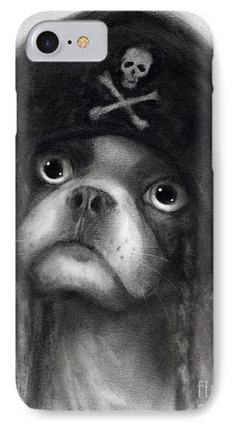 Whimsical Funny French Bulldog Pirate  IPhone Case by Svetlana Novikova