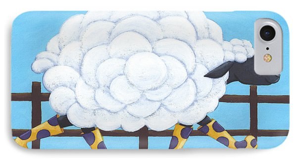 Whimsical Sheep Art Phone Case by Christy Beckwith