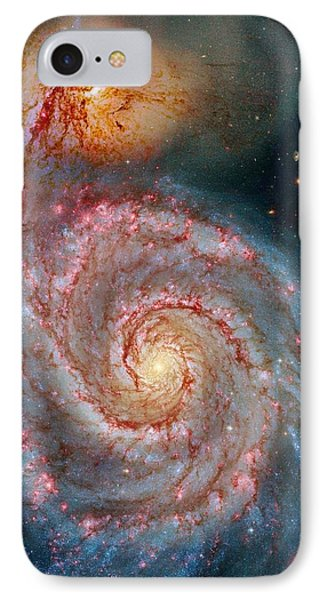 Whirlpool Galaxy In Dust Phone Case by Benjamin Yeager