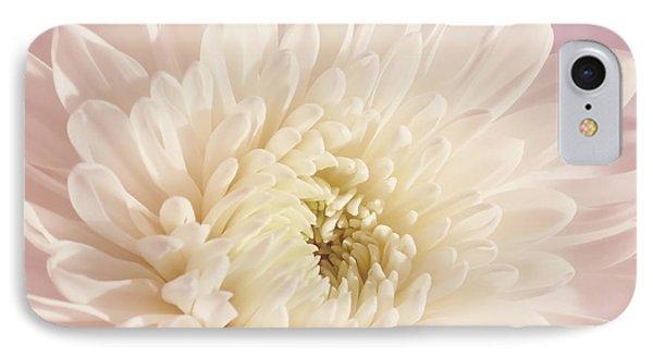 Whispering White Floral Phone Case by Kim Hojnacki