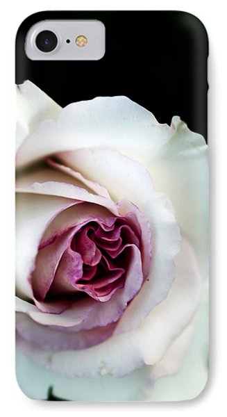 White And Magenta Rose IPhone Case by Sennie Pierson