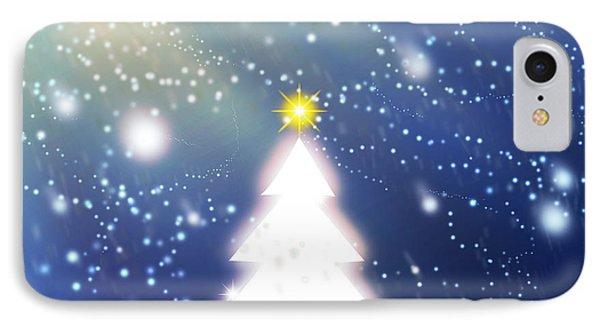 White Christmas Tree Phone Case by Atiketta Sangasaeng