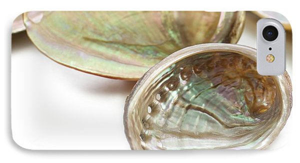 White Coloured Abalone Shells IPhone Case by Science Photo Library