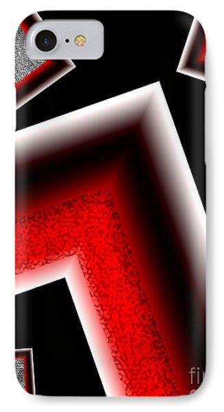 White Edges Geometric Art Phone Case by Mario Perez