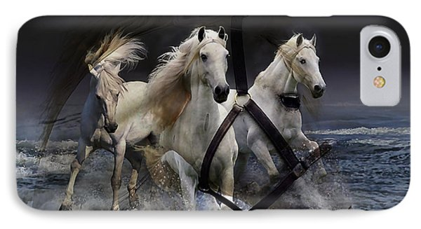 White Horse IPhone Case by Marvin Blaine