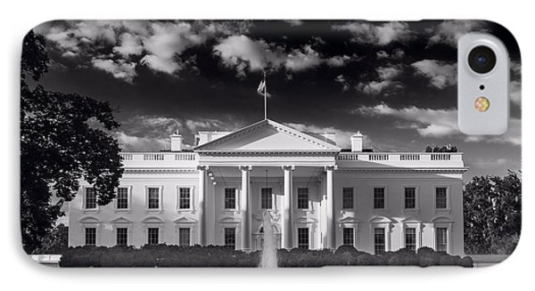 White House Sunrise B W IPhone Case by Steve Gadomski