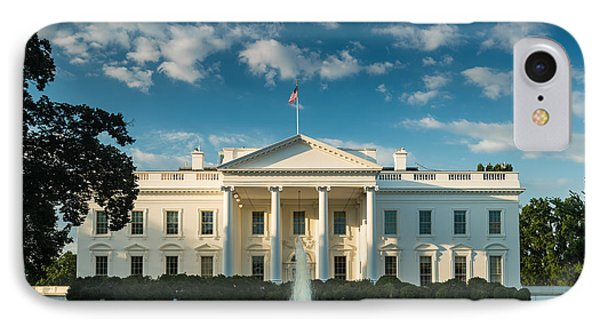 White House Sunrise IPhone Case by Steve Gadomski