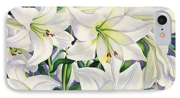 White Lilies IPhone Case by Christopher Ryland