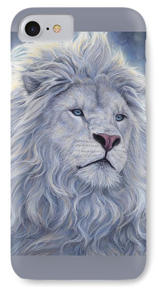 White Lion IPhone Case by Lucie Bilodeau
