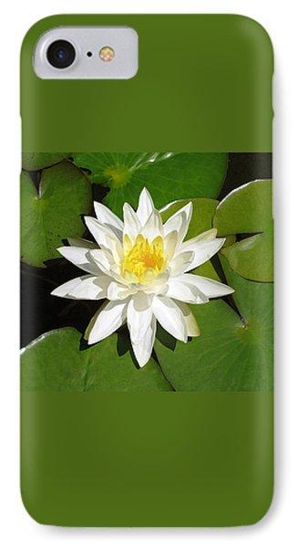 White Lotus Phone Case by Ellen Henneke