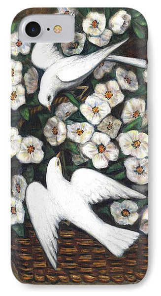 White On White Phone Case by Linda Mears