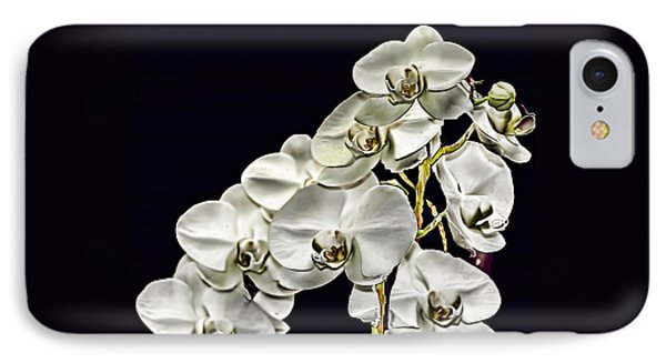 White Orchids Phone Case by Tom Prendergast