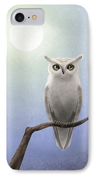 White Owl IPhone Case by April Moen