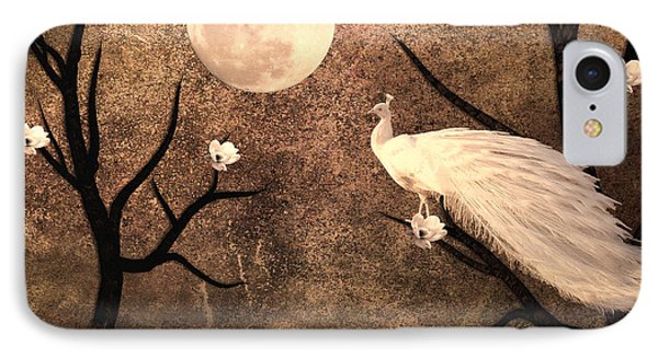 White Peacock IPhone Case by Sharon Lisa Clarke