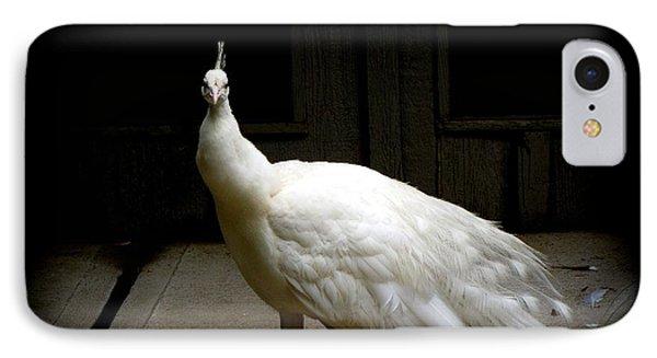 White Peacock Phone Case by Tilen Hrovatic