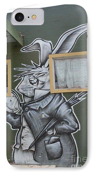 White Rabbit IPhone Case by Lne Kirkes