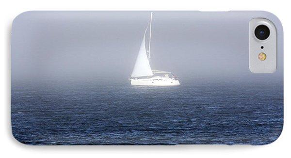 White Sailboat In Dublin Bay IPhone Case by Aidan Moran