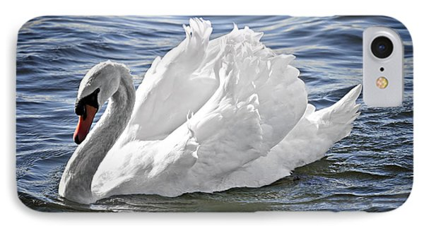 White Swan On Water IPhone Case by Elena Elisseeva
