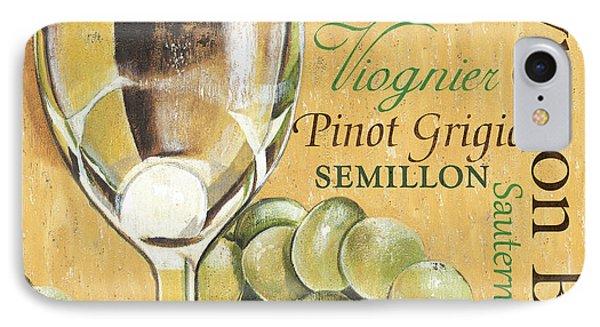 White Wine Text IPhone Case by Debbie DeWitt