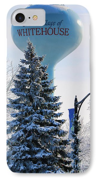 Whitehouse Water Tower  7361 IPhone 7 Case by Jack Schultz
