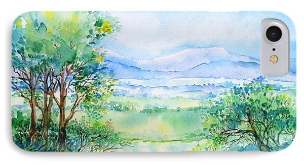 Wicklow Landscape In Summer Phone Case by Trudi Doyle